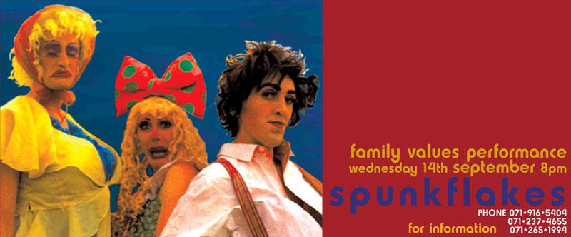Spunkflakes Family Values at the RCA