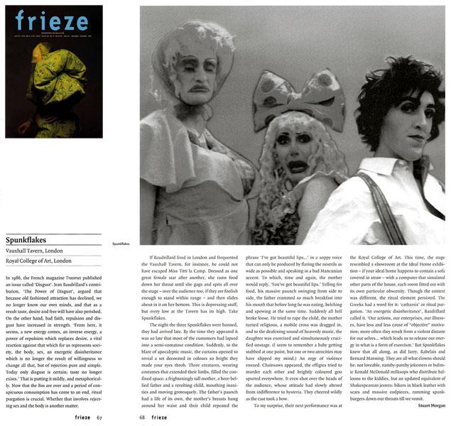 Frieze article by Stuart Morgan