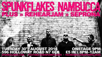 Spunkflakes Live at Nambucca, Tuesday, 30th August 2016
